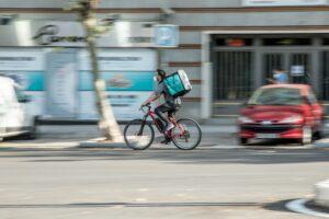 Boodschappen razendsnel per fiets bezorgd